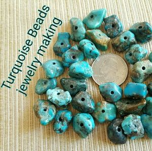 Jewelry - 57g Turquoise Stones Drilled Jewelry Making